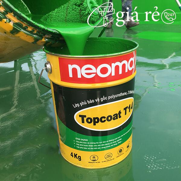 Neomax Topcoat T14 là lớp phủ dòng Polyurethane có khả năng kháng tia UV, chịu mài mòn, bền màu và chống rêu mốc vĩnh viễn