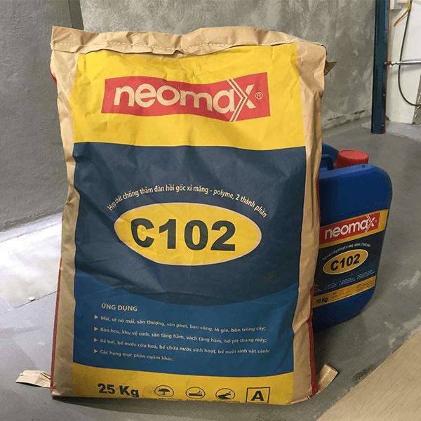 Chống thấm nhà vệ sinh bằng Neomax C102 mang đến kết quả chống thấm cao, kháng ẩm tuyệt đối và cho thời gian sử dụng lâu dài