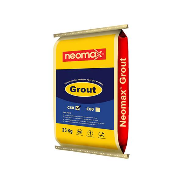 vữa rót Neomax Grout C60 là loại vữa trộn sẵn gốc xi măng không co ngót và cường độ chịu nén rất cao.