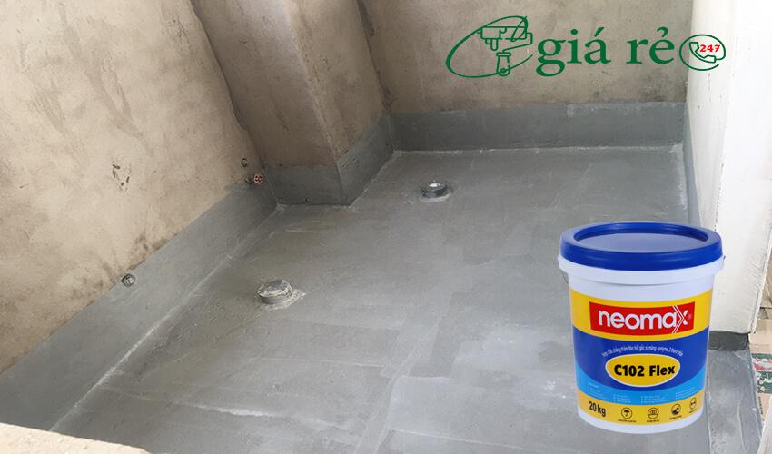 Chống thấm nhà vệ sinh Neomax C102 Flex hiệu quả vĩnh viễn cho thời gian sử dụng lâu dài