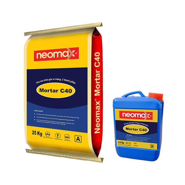 vữa sửa chữa gốc xi măng 2 thành phần neomax Mortar C40
