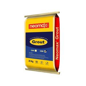 Vữa rót không co ngót Neomax Grout C80 là loại vữa rót trộn sẵn gốc xi măng, có khả năng tự chảy, tự san bằng, không co ngót và cường độ chịu nén rất cao