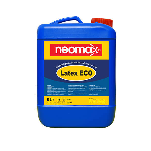 Neomax Latex ECO phụ gia chống thấm, kết nối dành riêng cho vữa và bê tông nhằm nâng cao khả năng chống, thấm nứt, ăn mòn và khả năng kết dính.
