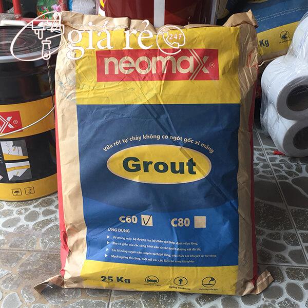 Vữa Neomax Grout C60 lấp đầy các cổ ống có khả năng tự chảy, tự san bằng, không co ngót, cường độ chịu nén cao