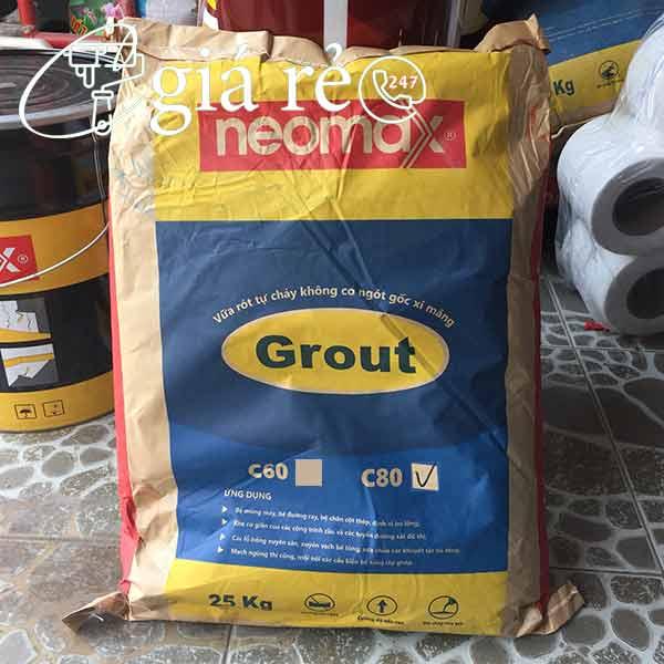 Neomax Grout C80 là vữa trộn sẵn gốc xi măng có khả năng lấp đầy, tự san phẳng, cường độ chịu nén cao
