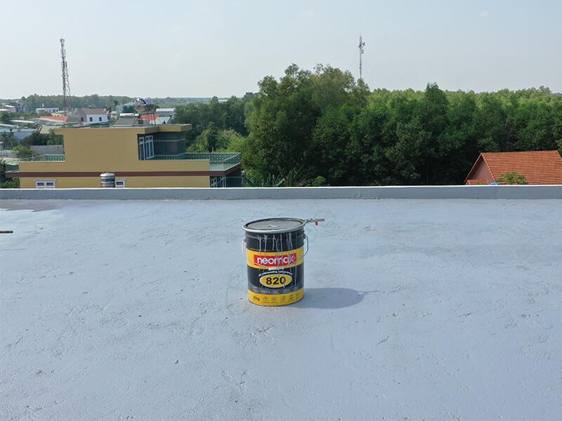 Kinh nghiệm chống thấm mái bê tông Neomax 820