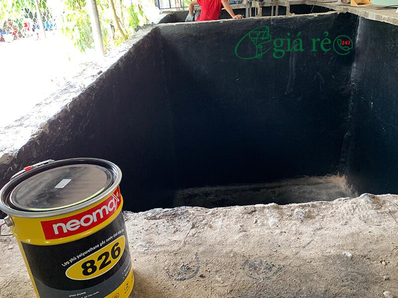 Có nên dùng sơn chống thấm hồ cá koi Neomax 826